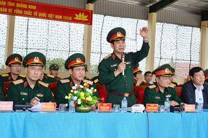 Thượng tướng Phan Văn Giang, kiểm tra công tác chuẩn bị diễn tập tại Quảng Ninh