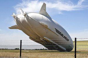 Máy bay \'lai\' khí cầu lớn nhất thế giới gặp sự cố
