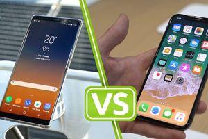 iPhone X đọ tốc độ download trên mạng 4G LTE thế hệ mới với Galaxy Note 8