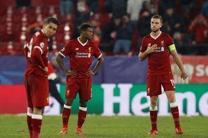 Liverpool vuột vé đi tiếp trước cú ngược dòng ngoạn mục của Sevilla