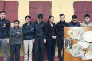 Thanh Hóa: Đột kích bắt giữ 10 đối tượng đang đánh bạc