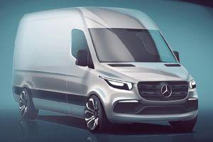 Mercedes-Benz Sprinter hoàn toàn mới lộ ảnh nội thất đầy hiện đại
