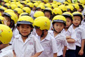 70% trẻ em chưa đội mũ bảo hiểm khi tham gia giao thông