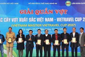 Nghệ An: Khởi tranh giải quần vợt Các tay vợt xuất sắc toàn quốc năm 2017
