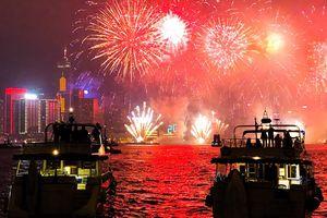 Hong Kong sáng bừng trong màn pháo hoa đón năm 2018