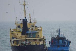 Nhật Bản bắt quả tang tàu Triều Tiên - Trung Quốc 'dính' vào nhau?
