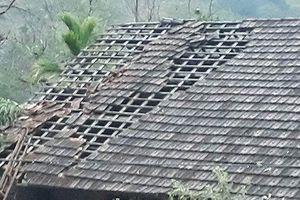 Hàng trăm ngôi nhà bị tốc mái do mưa đá và lốc xoáy sau Tết