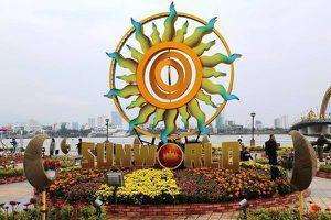 Người dân phố biển Đà Nẵng rộn ràng bên đường hoa xuân