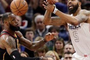 NBA 2017-18, Washington 110-103 Cleveland: Nhà vua té ngửa trên sân nhà