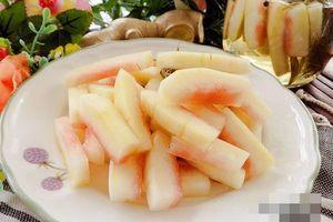 Tận dụng cùi dưa hấu sau Tết ngâm chua ngọt vừa rẻ vừa ngon
