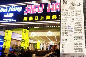 Khách tố nhà hàng chặt chém, xuất phiếu tính tiền chữ Trung Quốc