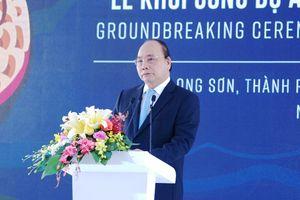 Thủ tướng dự lễ khởi công dự án tổ hợp hóa dầu miền Nam