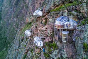 Choáng váng khách sạn nằm giữa lưng chừng núi ở Peru