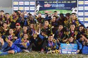 Ðội Quảng Nam lần đầu đoạt Siêu cúp bóng đá quốc gia