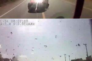 Thông tin mới về clip xe khách và ô tô con tông nhau như 'sấm sét'
