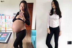 Mẹ sinh đôi Hà thành chia sẻ bí quyết giảm 28cm vòng eo và 17kg chỉ 1 tháng sau sinh