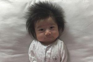 Bé 3 tháng tuổi 'đốn tim' dân mạng với mái tóc mặt trời