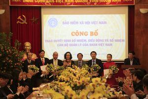 Điều động, bổ nhiệm nhiều cán bộ chủ chốt BHXH Việt Nam