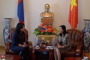 Thanh tra TP Ulan Bator mong muốn trao đổi, học tập kinh nghiệm với Thanh tra TP Hà Nội