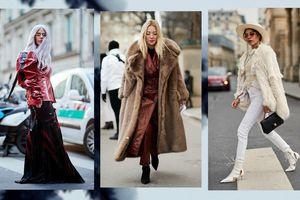 Áo khoác dáng dài, váy quét đất bắt tay nhau 'oanh tạc' street style Paris FW