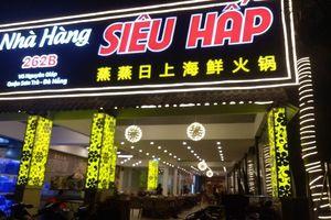 Tạm đình chỉ nhà hàng dùng hóa đơn tiếng Trung
