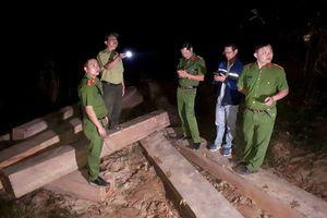 Lâm tặc bỏ lại 5 xe gỗ lậu khi bị phát hiện