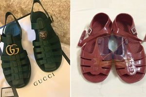 Mẫu sandal của Gucci giống hệt dép rọ Việt Nam có giá đến 11 triệu đồng, ai dám bỏ tiền mua?