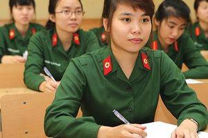 Năm 2018: Các trường quân đội chỉ dành 10% chỉ tiêu tuyển nữ