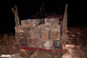 Bắt đoàn công nông chở gỗ lậu ra khỏi rừng trong đêm
