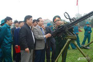 Khí thế ra quân huấn luyện của lực lượng vũ trang các địa phương, đơn vị