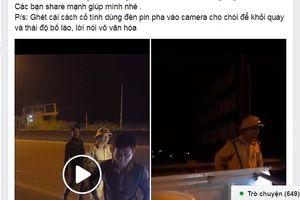 Quảng Nam: Tạm đình chỉ công tác 1 tháng đối với Trung tá CSGT ứng xử không đúng