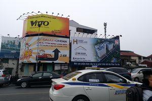 Vẫn còn trường hợp vi phạm quảng cáo ngoài trời tại Hà Nội