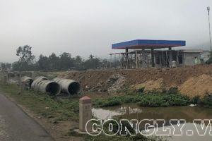 Dự án cây xăng tự ý mở đường vào quốc lộ 217
