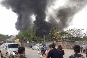 Hà Nội: Cháy dữ dội ở Triều Khúc, khói bốc cao hàng chục mét
