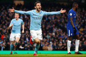 Bernardo Silva ghi bàn, Man City dễ dàng đánh bại Chelsea