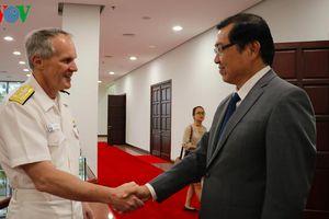 Chủ tịch UBND thành phố Đà Nẵng tiếp Đoàn Hải quân Hoa Kỳ