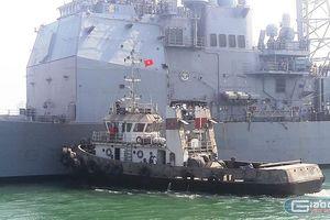 Tận mắt sức mạnh tuần dương hạm USS Lake Champlain của Mỹ ở Đà Nẵng