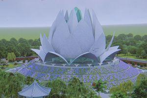 Khởi công xây dựng Liên Hoa Bảo Tháp với tượng Phật dát 30kg vàng 24K