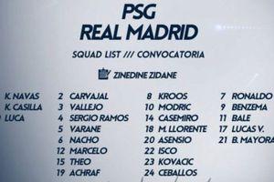 Zidane mang tất cả cầu thủ đến Paris