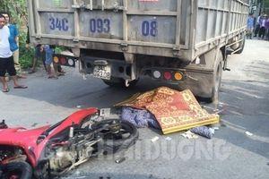 Hải Dương: Va chạm với xe tải, 2 thanh niên tử vong