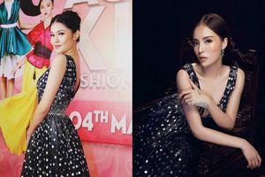 Diện lại chiếc váy khoét ngực sâu của Kỳ Duyên, á hậu Thùy Dung 'lép vế' khi để lộ vòng 1 phẳng lỳ