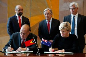Australia và Timor Leste ký Hiệp ước phân định lãnh hải lịch sử