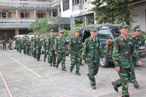 Kiểm tra công tác luyện tập chuyển trạng thái sẵn sàng chiến đấu tại BĐBP Thái Bình
