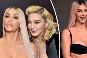 Kim Kardashian và 'nữ hoàng nhạc pop' Madonna mặc gợi cảm đọ sắc