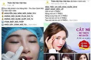 Thẩm mỹ viện Việt Hàn: Phẫu thuật nâng mũi, một khách hàng có biểu hiện biến chứng?