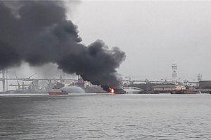Thủ tướng chỉ đạo xử lý sự cố cháy tàu chở dầu tại cảng Đình Vũ