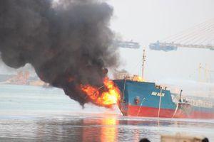 Thông tin chính thức vụ cháy tàu chở xăng dầu Hải Hà 18