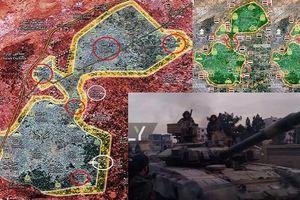 T-90 xung trận, SAA cắt nồi hầm Đông Ghouta thành 2 túi
