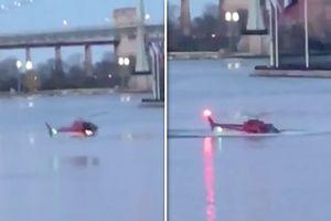 Cận cảnh trực thăng Mỹ lao xuống sông, 2 người thiệt mạng