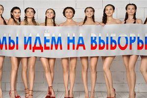 Bầu cử Nga: Vợ chính trị gia chụp ảnh khỏa thân kêu gọi người dân đi bỏ phiếu